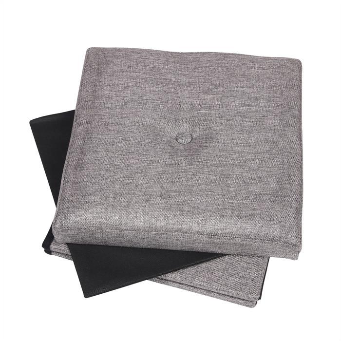 Sitzwürfel RENATA, faltbar in grau