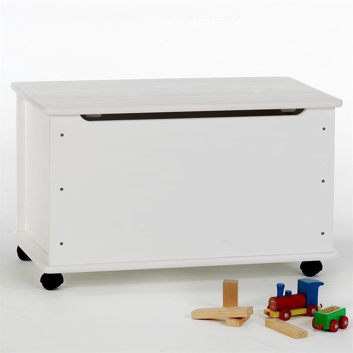 Spielzeugkiste ELISA in weiß lackiert