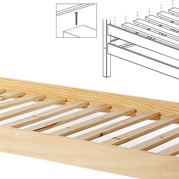 Rollrost aus Kiefer in 120 x 200 cm