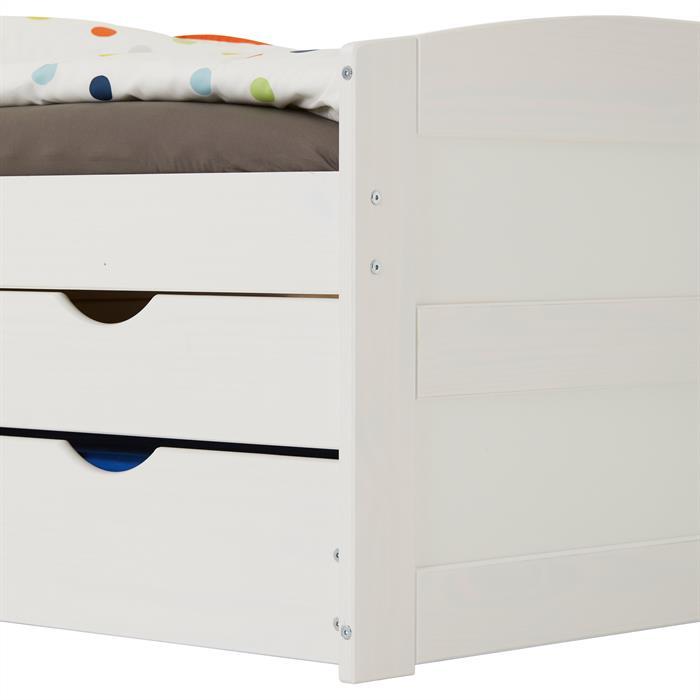 Kojenbett JESSY 90 x 200 cm, weiß