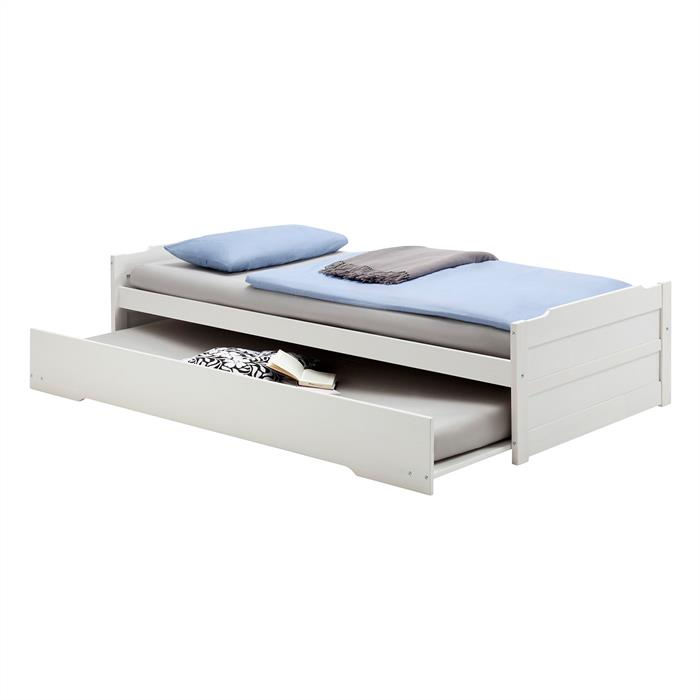 Tandembett LORENA weiß 190 x 90 cm