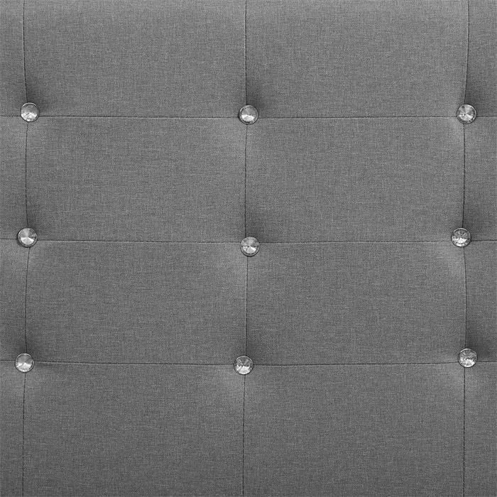 Polsterbett TICO 90 x 190 cm Stoffbezug in grau