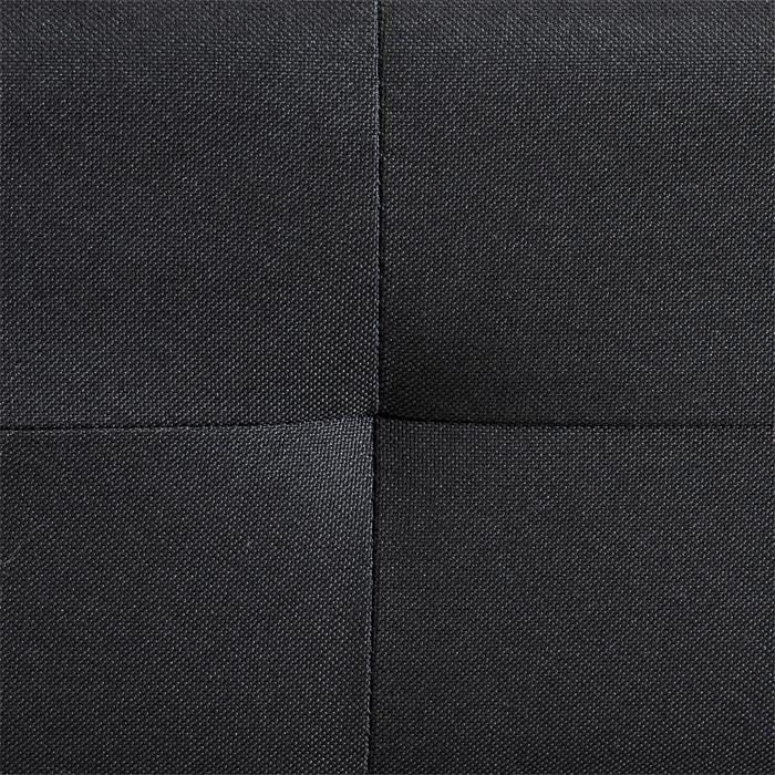 Futonbett CORSE 160 x 200 cm Stoffbezug in schwarz inkl. Lattenrost