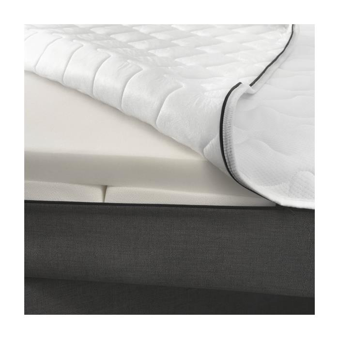 Boxspringbett Set 180 x 200 cm in Leder-Optik schwarz