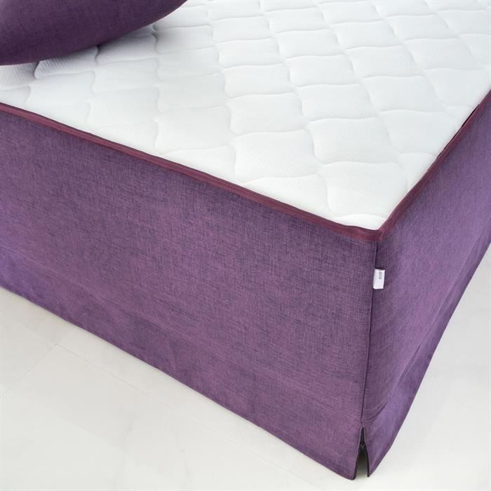 Boxspringbett 180 x 200 Set Leinen-Optik lila
