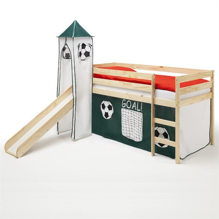 Spielbett BENNY mit Fussballvorhang+Turm
