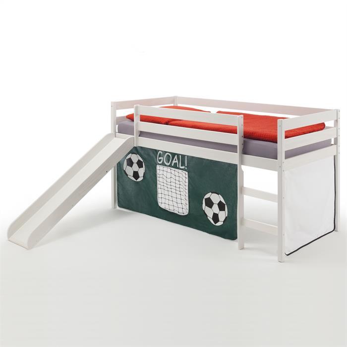 Spielbett BENNY weiß, Fußball-Vorhang