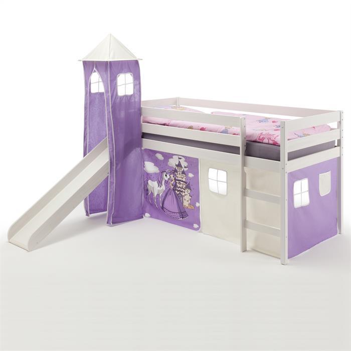 Rutschbett BENNY, Turm+Vorhang Prinzessin