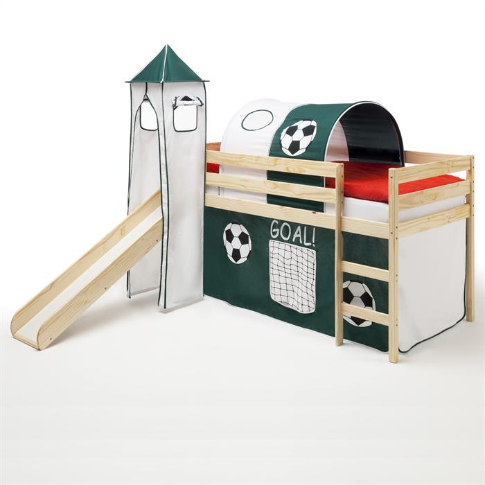 Spielbett BENNY natur, Fußball-Motiv