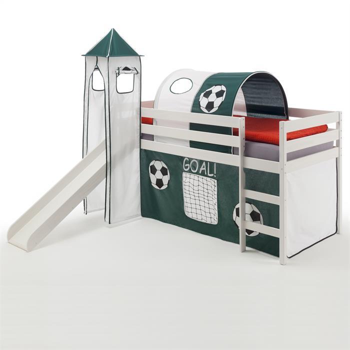 Spielbett BENNY Fußball, weiß lackiert