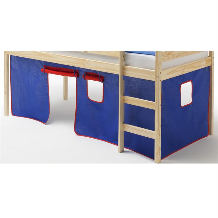 Vorhang CLASSIC, in blau/rot