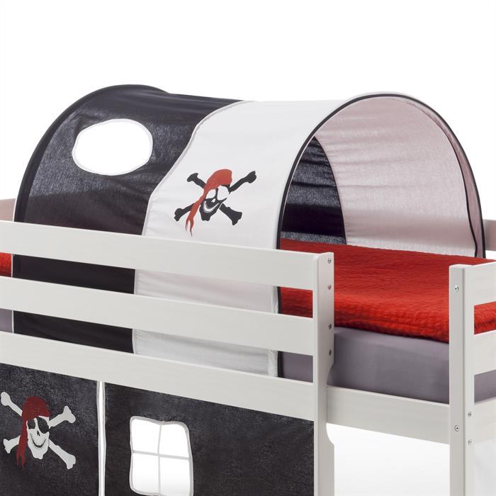 Tunnel MAX für Spielbett Hochbett,  in schwarz/weiß PIRAT