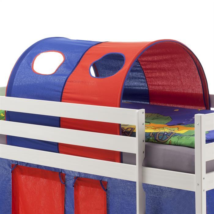 Tunnel MAX für Spielbett Hochbett,  in blau/rot