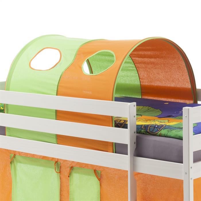 Tunnel MAX für Spielbett Hochbett,  in grün/orange