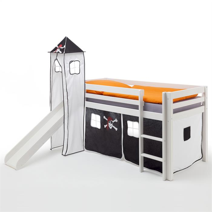 Rutschbett MAX mit Vorhang & Turm Pirat