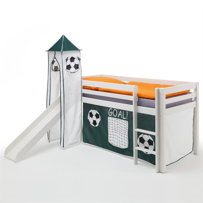 Rutschbett MAX, Vorhang & Turm Fußball