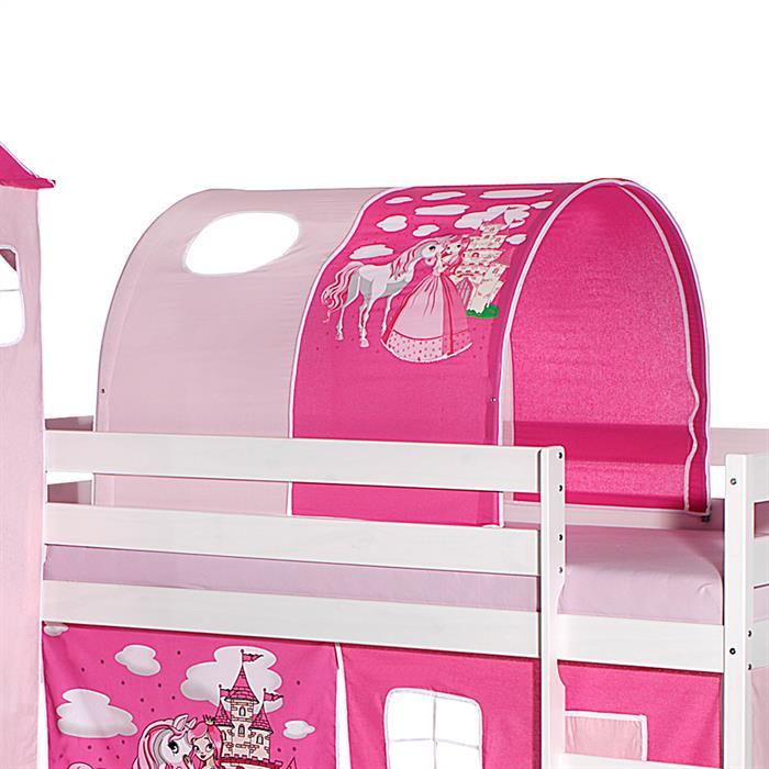 Tunnel PRINZESSIN für Spielbett  in pink/rosa