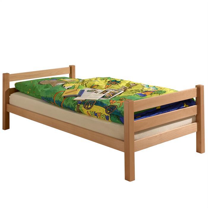 Bett NILS 100 x 200 cm, Buche massiv, natur