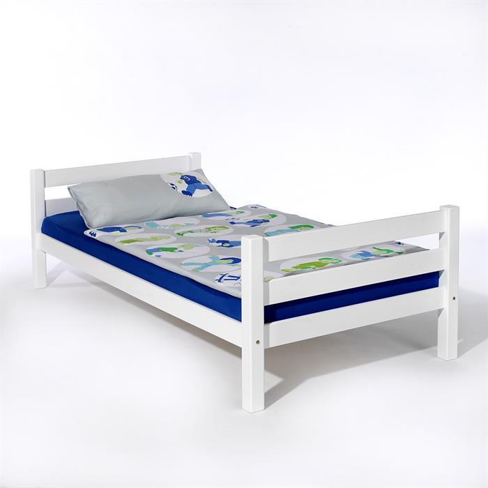 Bett NILS 100 x 200 cm, Buche massiv, weiß