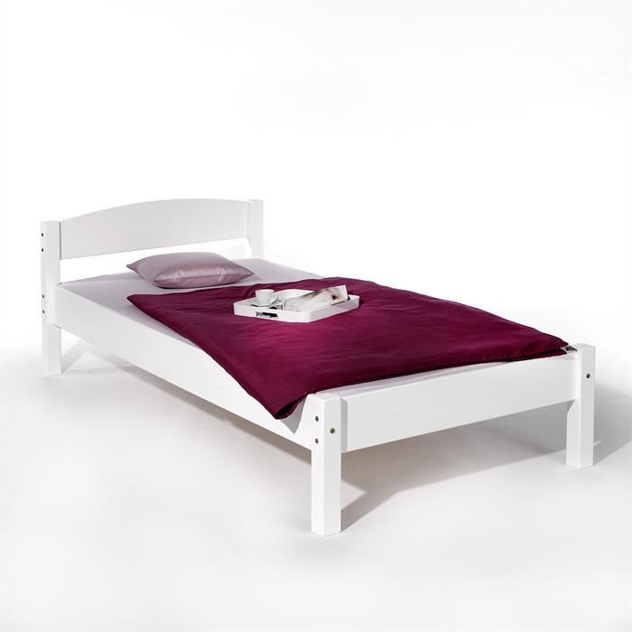 Einzelbett JAN Buche weiß 100 x 200 cm