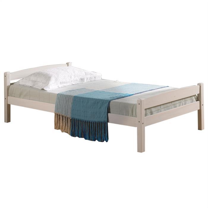Einzelbett FELIX  90x190 cm, Kiefer weiß