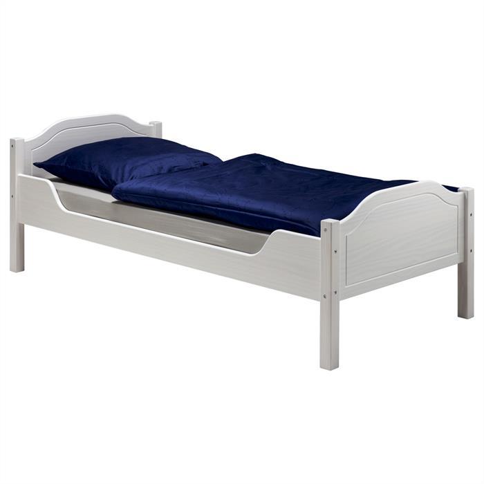 Bett KÖLN 100x200 cm, Kiefer massiv weiß