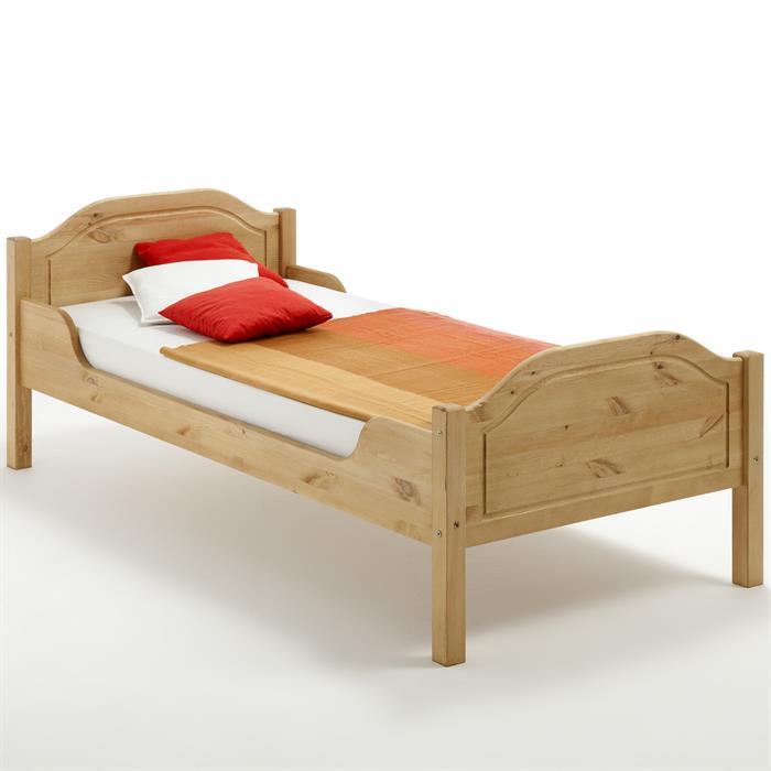 Bett KÖLN 100x200 cm, Kiefer massiv gelaugt/geölt