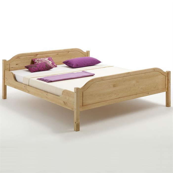 Bett KÖLN 120x200 cm, Kiefer massiv gelaugt/geölt