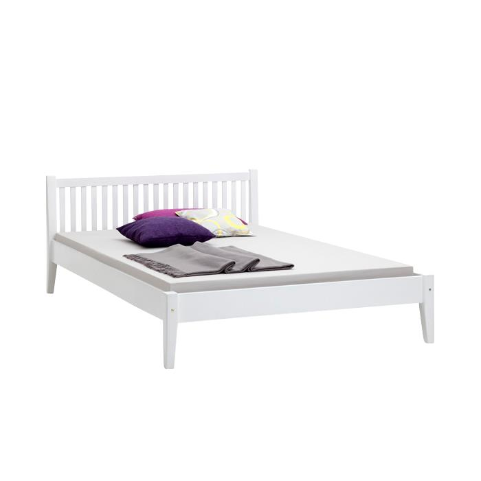 Doppelbett SONJA, Buche, weiß 140 x200 cm