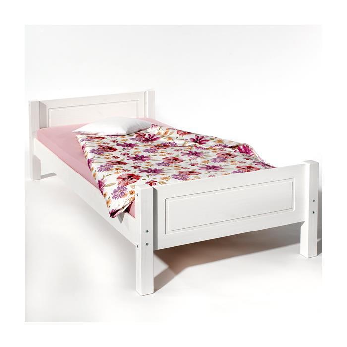 Einzelbett CLAUDIO in 100 x 200 cm, weiß