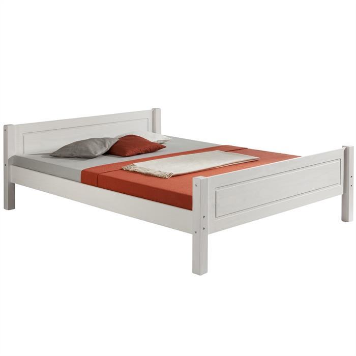 Doppelbett CLAUDIO in 140 x 200 cm, weiß