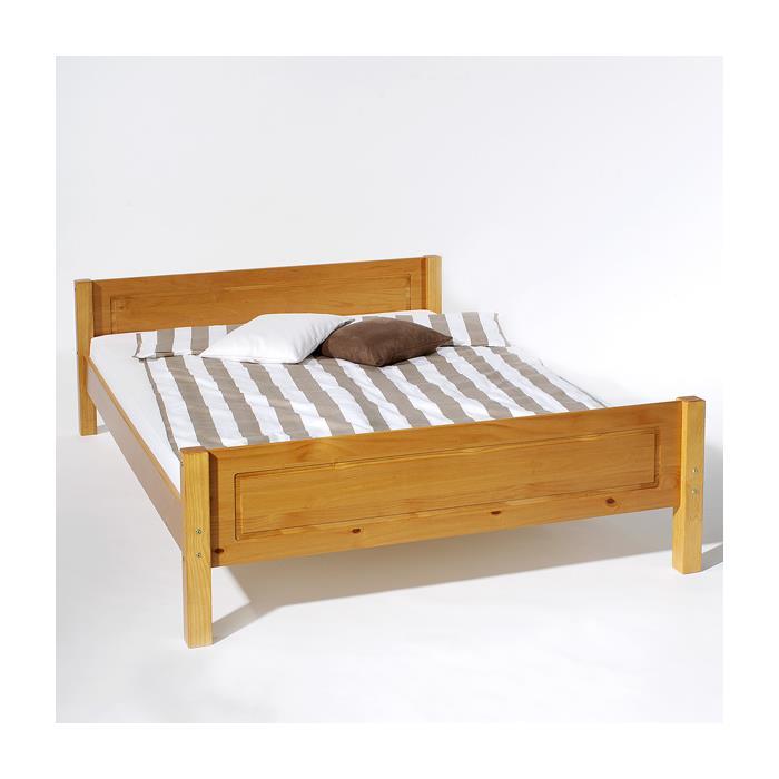 Doppelbett CLAUDIO 140 x 200 cm, honigfarben