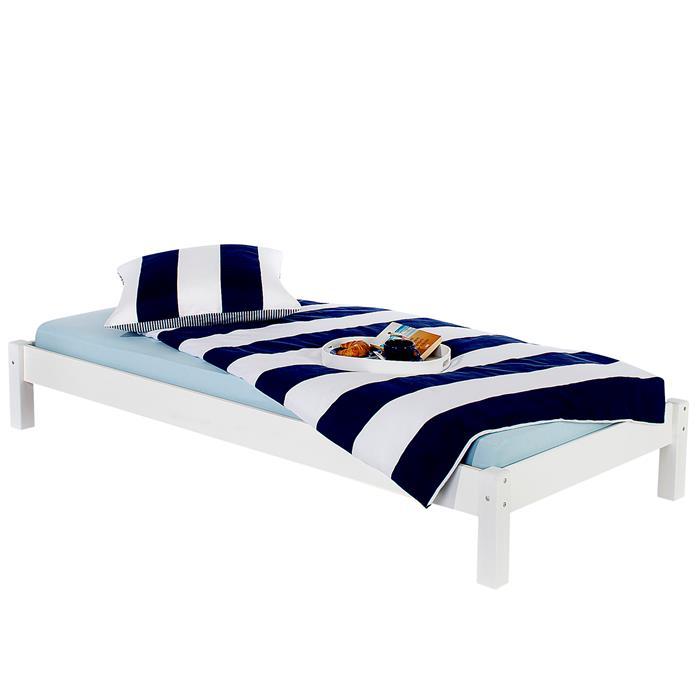Futonbett TAIFUN 90x200cm weiß lackiert
