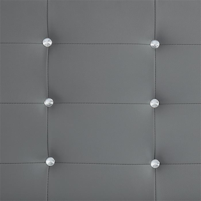 Polsterbett Einzelbett TICO 90 x 190 cm in grau