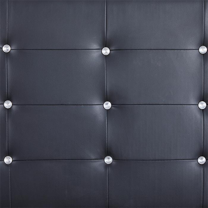 Polsterbett Einzelbett TICO 90 x 190 cm in schwarz