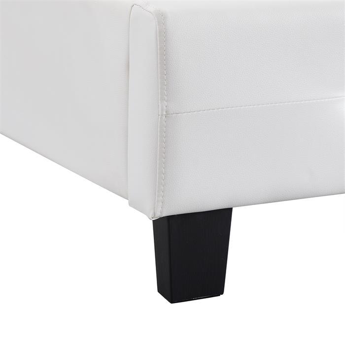 Polsterbett Einzelbett TICO 90 x 190 cm in weiß