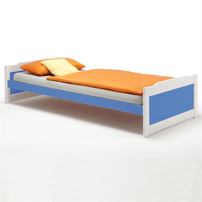 Einzelbett FRITZ 90x200 cm in blau/weiß