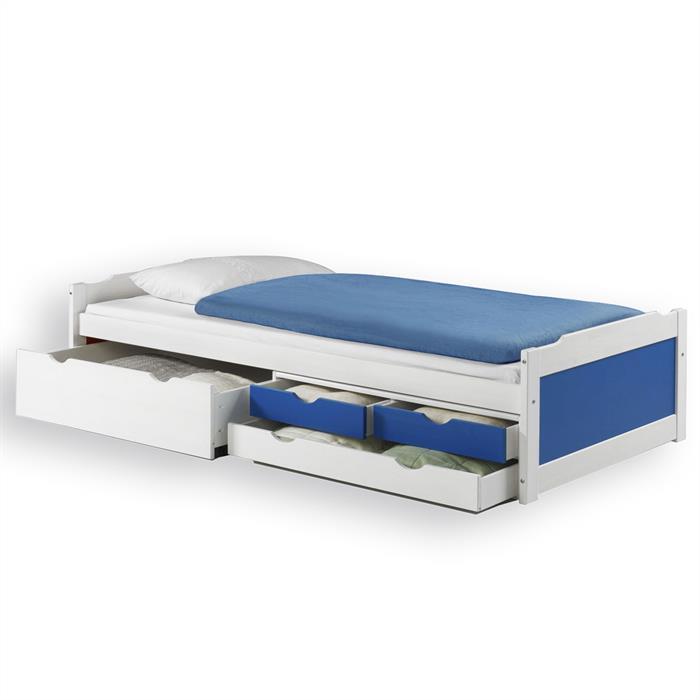 Funktionsbett ANDREA in weiss/blau