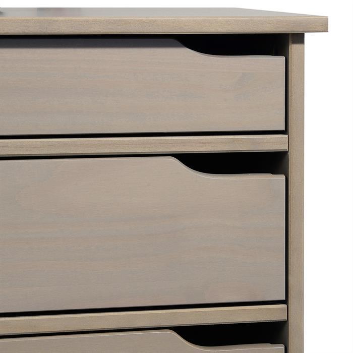 Schreibtisch HUGO in Kiefer massiv taupe