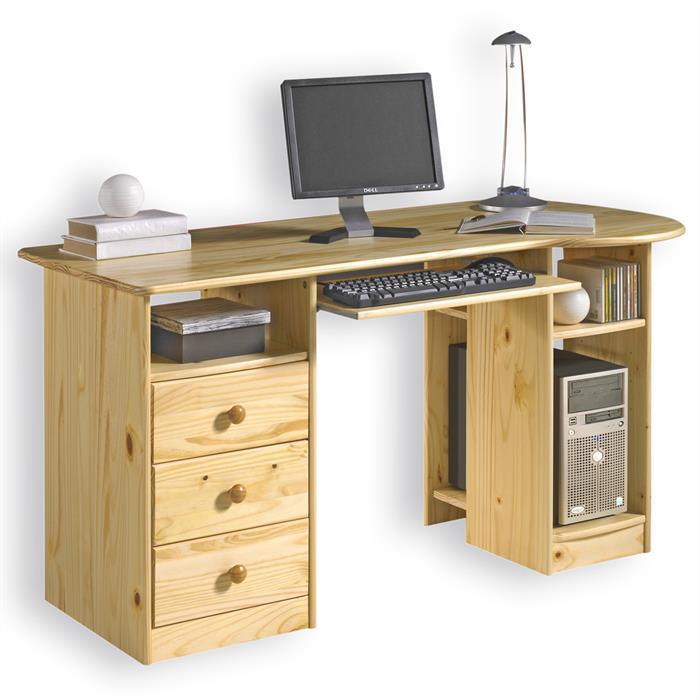 PC-Schreibtisch BOB in der Farbe natur