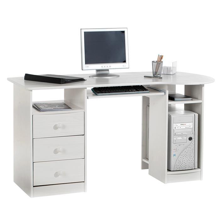 PC-Schreibtisch BOB in der Farbe weiß