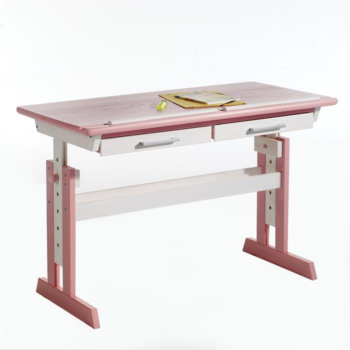 Kinderschreibtisch OLIVIA, in weiß/rosa