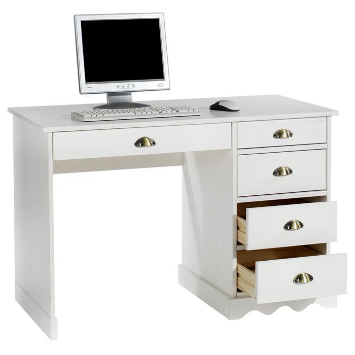 Schreibtisch COLETTE  in der Farbe weiß