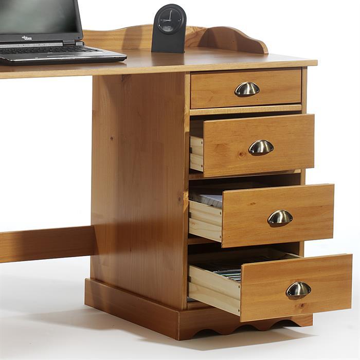 Schreibtisch SANDRINE honigfarben lackiert