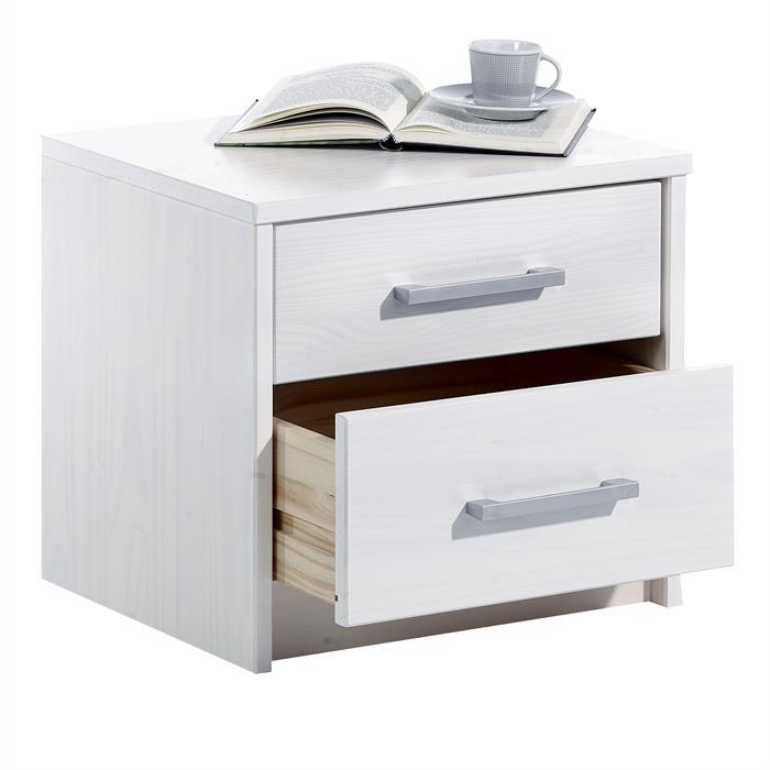 Nachtkommode TESSA 2 Schubladen weiß