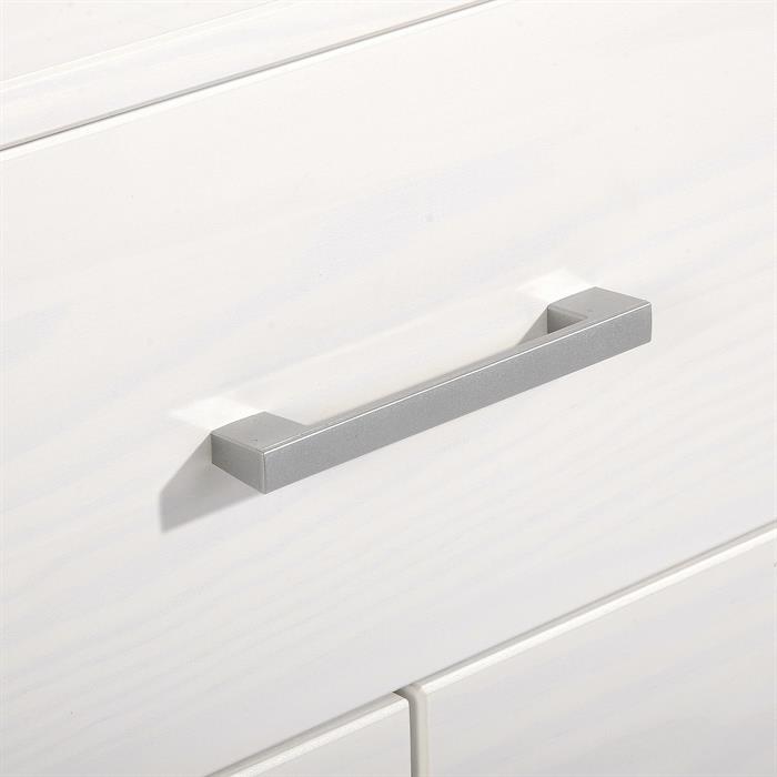 Nachtkommode TESSA mit 3 Schubladen in weiß