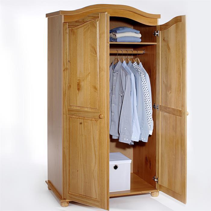 Garderobenschrank Dielenschrank DAVOS mit 2 Türen, Kiefer honigfarben