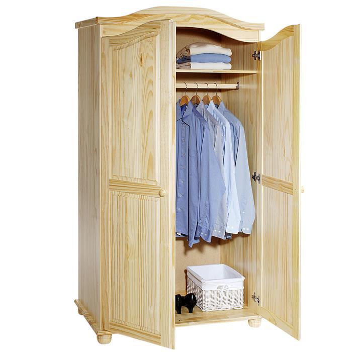 Garderobenschrank Dielenschrank DAVOS mit 2 Türen, Kiefer natur