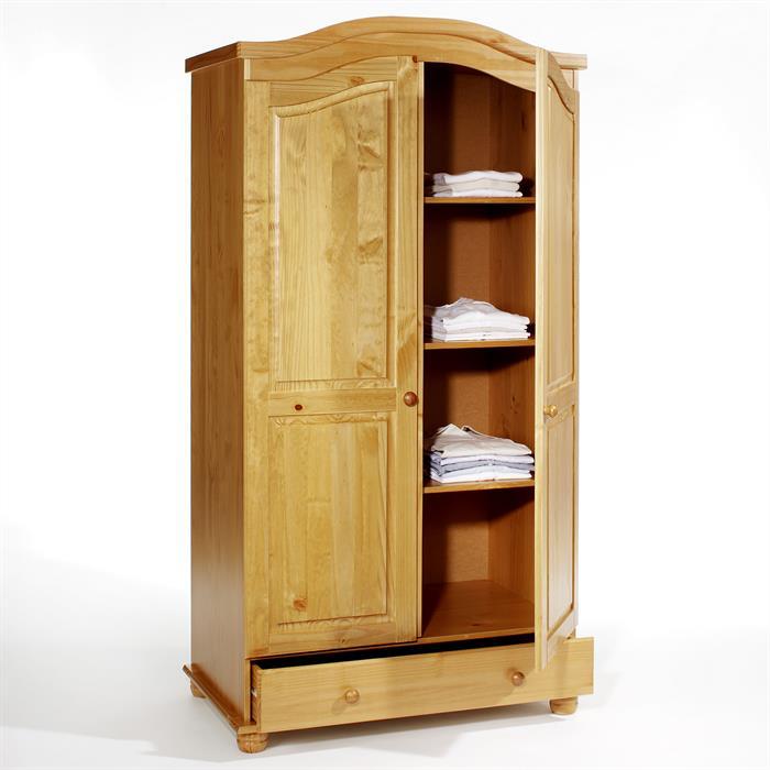Garderobenschrank Dielenschrank BERGEN mit 2 Türen, Kiefer honigfarben