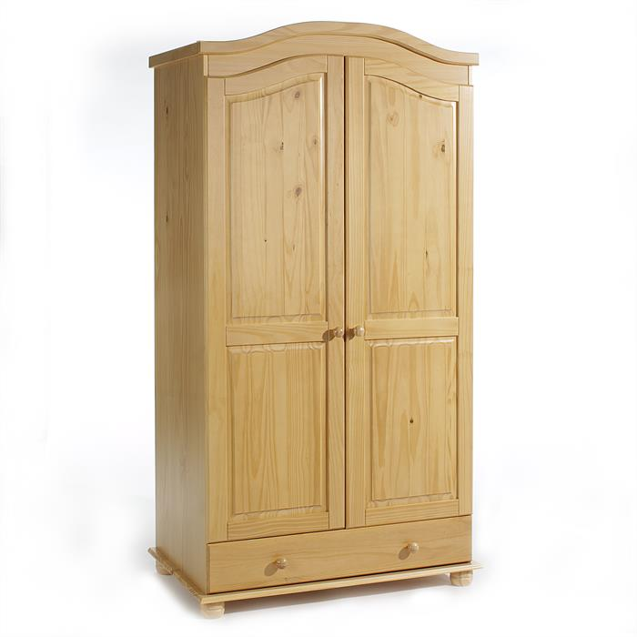 Garderobenschrank Dielenschrank BERGEN mit 2 Türen, Kiefer buchefarben